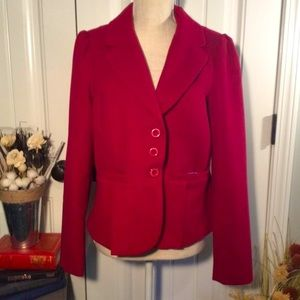 Jou Jou hot pink polyester and wool blazer; L
